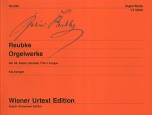 Orgelwerke Julius Reubke Partition Orgue - laflutedepan