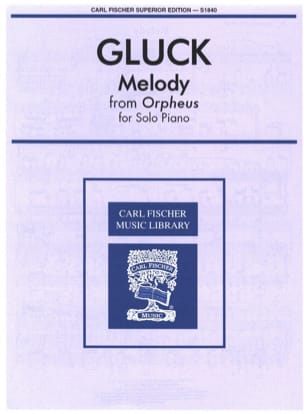 Melody From Orpheus GLUCK Partition Piano - laflutedepan