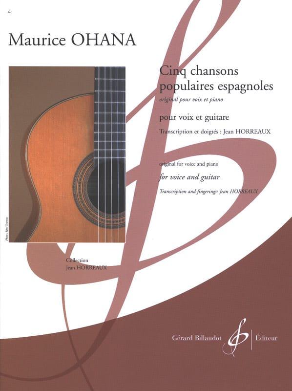 Cinq Chansons populaires espagnoles - Maurice Ohana - laflutedepan.com