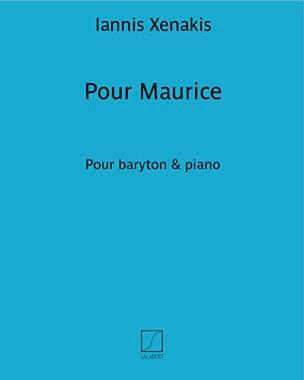 Pour Maurice XENAKIS Partition Mélodies - laflutedepan