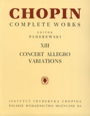 Concert Allegro Variations CHOPIN Partition Piano - laflutedepan