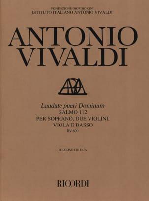 VIVALDI - Laudate Pueri Dominum RV 600 - Partition - di-arezzo.co.uk