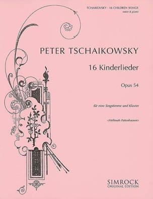 16 Kinderlieder Op. 54 TCHAIKOVSKY Partition Mélodies - laflutedepan