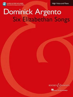 6 Elizabethan Songs Dominick Argento Partition Mélodies - laflutedepan