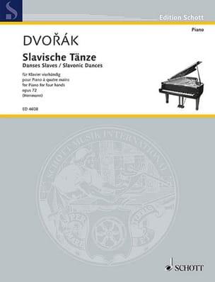 Danses Slaves 4 Mains Opus 72 Volume 1 DVORAK Partition laflutedepan