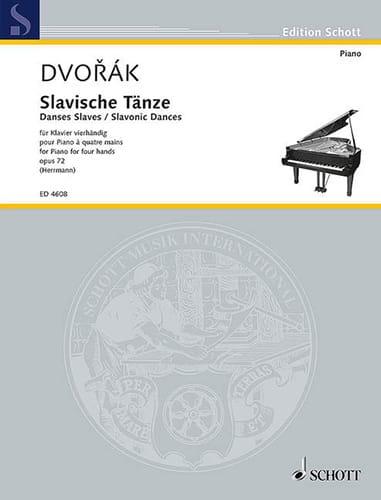 Danses Slaves 4 Mains Opus 72 Volume 1 - DVORAK - laflutedepan.com