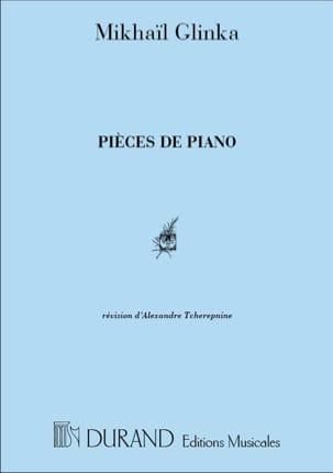 Pièces de Piano GLINKA Partition Piano - laflutedepan