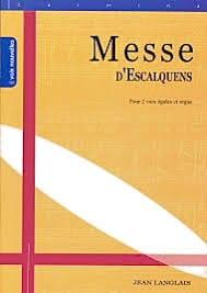 Messe D'Escalquens Opus 19 Jean Langlais Partition laflutedepan