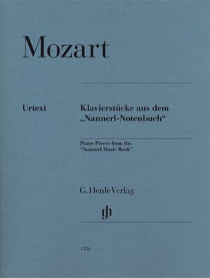 Piano pieces from the Nannerl music book MOZART Partition laflutedepan