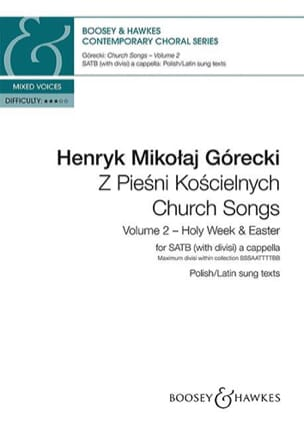 Church songs. Volume 2 GORECKI Partition Chœur - laflutedepan