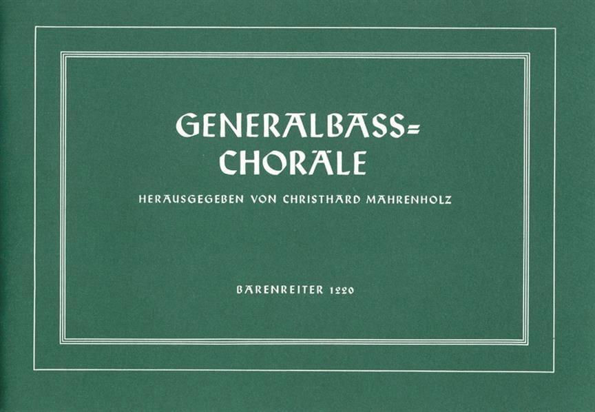 Generalbass-Choräle - Partition - Clavecin - laflutedepan.com