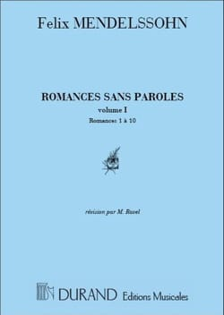 Romances Sans Paroles Volume 1 - MENDELSSOHN - laflutedepan.com