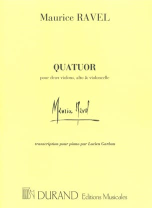 Quatuor A Cordes RAVEL Partition Piano - laflutedepan