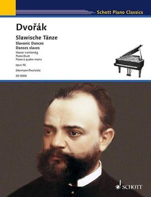 Danses Slaves 4 Mains Opus 46. DVORAK Partition Piano - laflutedepan
