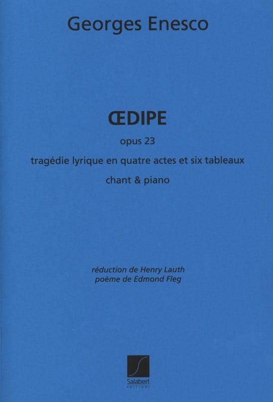 Oedipe Opus 23 - ENESCO - Partition - Opéras - laflutedepan.com