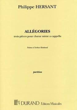 Allégories Philippe Hersant Partition Chœur - laflutedepan