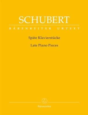 Late Piano Pieces SCHUBERT Partition Piano - laflutedepan