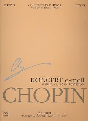 Concerto pour piano n° 1 en mi mineur op. 11. Partie soliste laflutedepan
