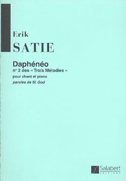 Daphénéo SATIE Partition Mélodies - laflutedepan
