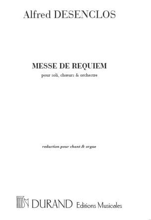 Messe de Requiem Alfred Desenclos Partition Chœur - laflutedepan