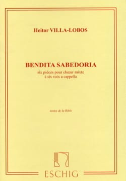 Bendita Sabedoria VILLA-LOBOS Partition Chœur - laflutedepan