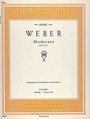 Moderato, op. 10/1 Weber Partition Piano - laflutedepan