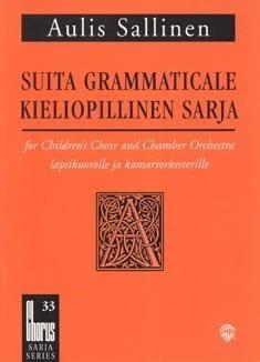 Suita Grammaticale Op. 28 Aulis Sallinen Partition laflutedepan