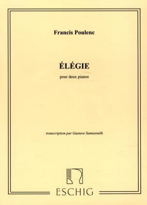 Francis Poulenc - Eleganza - 2 pianoforti - Partition - di-arezzo.it