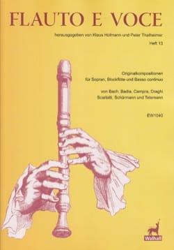 Flauto E Voce. Volume 13 Partition Flûte à bec - laflutedepan