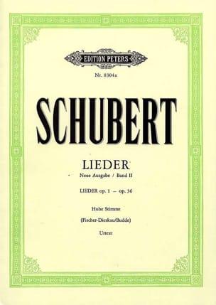 Lieder Volume 2 - Voix Moyenne - Fischer-Dieskau SCHUBERT laflutedepan