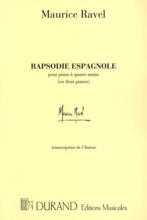 Rhapsodie Espagnole. 4 Mains Ou 2 Pianos RAVEL Partition laflutedepan