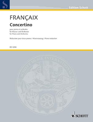 Concertino 1932 2 Pianos FRANÇAIX Partition Piano - laflutedepan