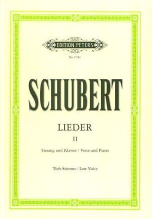 Lieder Volume 2 - Voix Grave SCHUBERT Partition laflutedepan