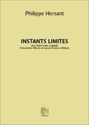 Instants limites - Philippe Hersant - Partition - laflutedepan.com