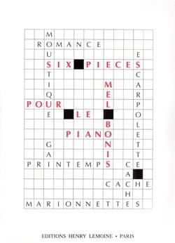 6 Pièces Mel Bonis Partition Piano - laflutedepan