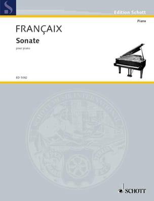 Sonate Pour Piano FRANÇAIX Partition Piano - laflutedepan
