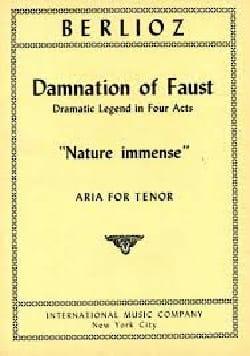 Nature Immense. la Damnation de Faust BERLIOZ Partition laflutedepan