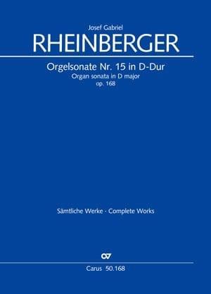 Sonate n° 15 Opus 168 - RHEINBERGER - Partition - laflutedepan.com
