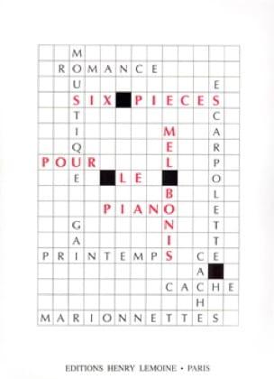 6 Pièces - Mel Bonis - Partition - Piano - laflutedepan.com