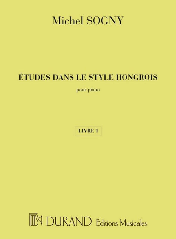 Etudes Dans le Style Hongrois Livre 1 - laflutedepan.com