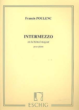 Intermezzo En la Bémol Majeur POULENC Partition Piano - laflutedepan