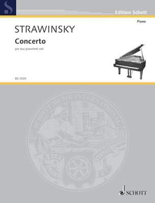 Concerto 1935 STRAVINSKY Partition Piano - laflutedepan
