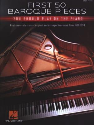 First 50 Baroque Pieces Partition Piano - laflutedepan