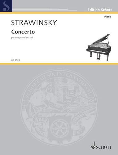 Concerto 1935 - STRAVINSKY - Partition - Piano - laflutedepan.com
