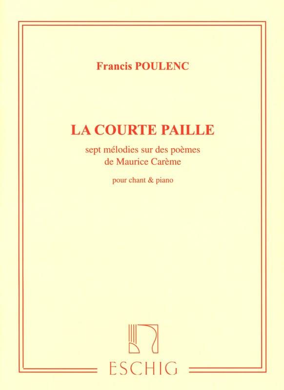 La Courte Paille - POULENC - Partition - Mélodies - laflutedepan.com