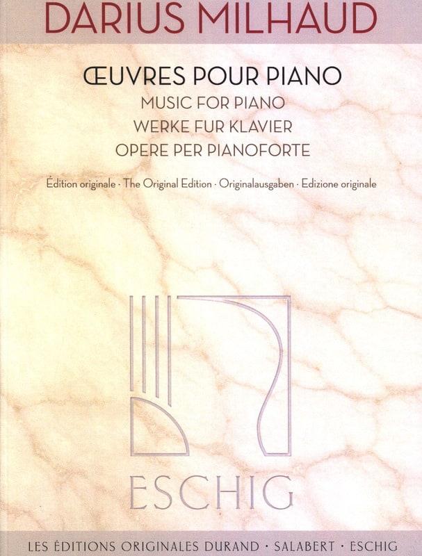 Oeuvres pour piano - MILHAUD - Partition - Piano - laflutedepan.com