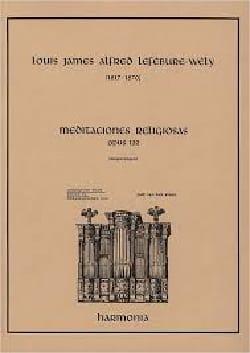 Meditaciones Religiosas Opus 122 LEFÉBURE-WÉLY Partition laflutedepan