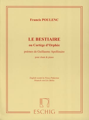 Francis Poulenc - The Bestiary - Partition - di-arezzo.com