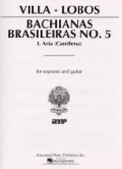 Bachianas Brasileiras N° 5-1 VILLA-LOBOS Partition laflutedepan