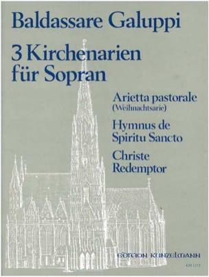3 Kirchenarien Für Soprano Baldassare Galuppi Partition laflutedepan